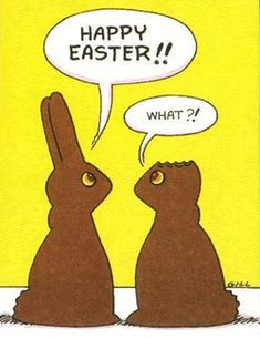 Chocolate bunny conversations...