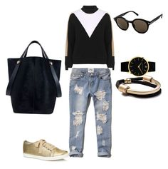"""""""Caroeliv8"""" by carolina-elivo on Polyvore featuring moda, Topshop, Abercrombie & Fitch, Lanvin, Tom Ford, Mulberry, Larsson & Jennings, women's clothing, women y female"""