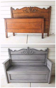 Diy Furniture Table, Refurbished Furniture, Repurposed Furniture, Furniture Projects, Furniture Makeover, Antique Furniture, Painted Furniture, Wood Projects, Antique Bench