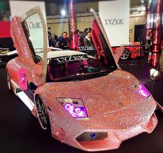 Tag someone that would drive this diamond studded Lambo photo: @ginaluxe —