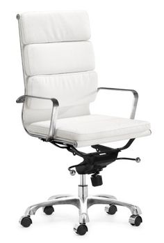 flash furniture high back designer white leather executive swivel