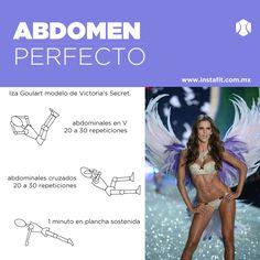 Rutina para abdomen perfecto de Victoria's Secret. #VSFashionShow Iza Goulart