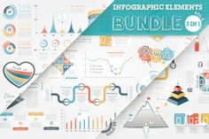 33% OFF Infographic Elements Bundle by Infographic paradise on Creative Market