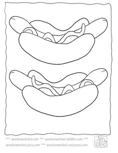 hot dog coloring page Google Search ABC easy as 123