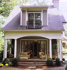 The common denominator in all these porches is comfort , coziness and a bit of fun!  I am ready to spruce up my front porch and these pho...
