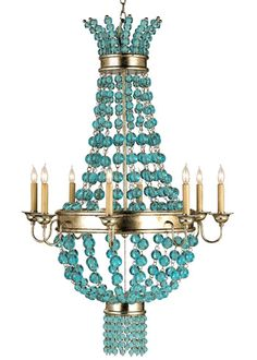 Currey and Company Serena Chandelier CU9166  Love this!  So beautiful and elegant!