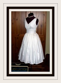 My future wedding dress, plain and simple for a mature bride....now all I need is a groom!!! LOL