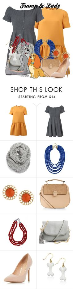 """Tramp & Lady"" by amarie104 ❤ liked on Polyvore featuring Valentino, Glamorous, Halogen, BaubleBar, Kenneth Jay Lane, Accessorize, Dorothy Perkins and ANNA BAIGUERA"