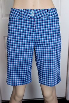 NIKE GOLF Dri-Fit Women's Performance Purple & Blue Plaid Athletic Shorts Size 4 in Clothing, Shoes & Accessories, Women's Clothing, Athletic Apparel   eBay