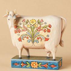 'Til The Cows Come Home-Folk Cow Figurine