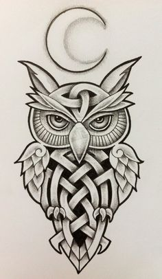 Celtic Owl and Moon by Tattoo-Design on DeviantArt