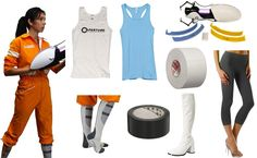 Chell from Portal Costume