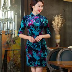 chinese clothing snow leopard print dress            https://www.ichinesedress.com/