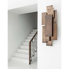 Contemporary furniture design by Two Is Company - DIY Wooden Art Wooden Wall Art, Wooden Walls, Scrap Wood Art, Wall Wood, Metal Walls, Wall Art Designs, Wall Design, Stair Design, Contemporary Furniture