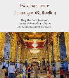 Eko Satgur Jaagta    Hor Jag Suta Moh Pyaas Temple Quotes, Sikh Quotes, Indian Quotes, Punjabi Quotes, Holy Quotes, Gurbani Quotes, Love Quotes In Hindi, Truth Quotes, Qoutes