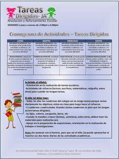 Tareas Dirigidas JA: CRONOGRAMA DE ACTIVIDADES TAREAS DIRIGIDAS ENERO 2014 (CARACAS)