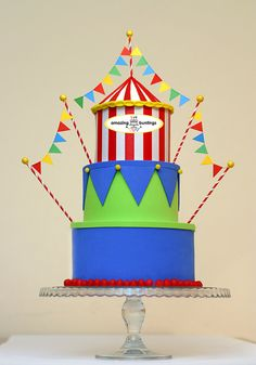 Items Similar To FREE Delivery UK Orders 995 GBP Or MoreCircus Cake Bunting Topper Carnival Theme 1st Birthday Wedding On Etsy