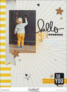 #papercrafting #scrapbook #layouts:  Layout mit Seven Paper - Elliot ... Designteam Arbeit von Nicole Weber