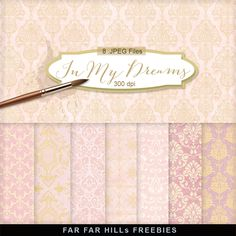 New Freebies Kit of Backgrounds - In My Dreams:Far Far Hill - Free database of digital illustrations and papers