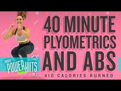40 Minute Plyometric and Abs Workout 🔥Burn 410 Calories! Plyo Workouts, Interval Training Workouts, Hiit Workout At Home, 10 Minute Workout, High Intensity Interval Training, Boxing Workout, Workout Videos, Workout Exercises, Body Workouts
