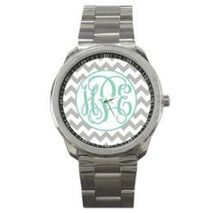 DECEMBER 1 Last Day -Chevron Personalized Boyfriend Watch - Personalized Watch - Ladies Watch - Stainless Steel Watch - Personalized on Etsy, $42.99