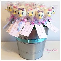 #pretty #handmade #cakepops made in a #daisy #duck #design #1st #birthday Hand Made With Love By Penny Belle xx
