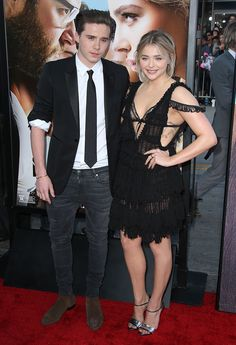 "Brooklyn Beckham and Chloe Grace Moretz make their red carpet debut as a couple at ""Neighbors 2: Sorority Rising"" premiere in Los Angeles on May 16, 2016"
