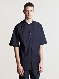 Lanvin Men's Round Collar Shirt