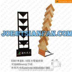 Translation and rotation tile display rack by metal