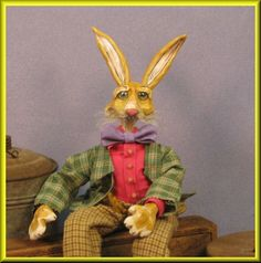 Bend-able Beanie Bunny Doll #1 now for auction at my e-Bay shoppe with a $45.00 starting bid!