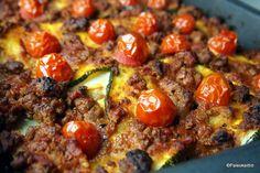 Tajuton kesäkurpitsa vuokaan | Paleokeittiö Paleo, Keto, Food Challenge, Creative Food, Pepperoni, Vegetable Pizza, Bakery, Dinner Recipes, Good Food