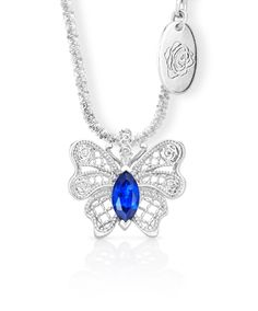 Aldora Butterfly Pendant - The butterfly is symbolic of new beginnings, positive change and upliftment. Crystal Jewelry, Diamond Jewelry, Jenna Clifford, Butterfly Pendant, Blue Butterfly, Summer Of Love, Jewelry Branding, Sale Items, Jewelry Design