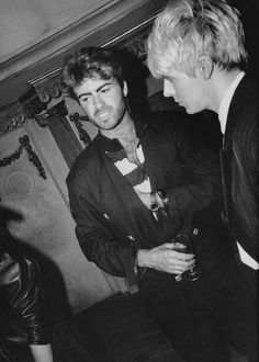 George Michael and Nick Rhodes of Duran Duran