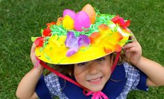 How to make an easy Easter bonnet. If your child loves craft and hats, then this Easter hat parade hat idea is for you. The Easiest Easter bonnet is what we call the everything but the kitchen sink Easter hat. You simply get the kids to decorate the Easter Bonnets For Boys, Easter Crafts For Kids, Easter Stuff, Easter Bunny, Paper Plate Hats, Easter Hat Parade, Kids Calendar, Crazy Hats, Diy Ostern