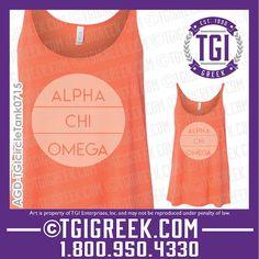 TGI Greek - Alpha Chi Omega - Sorority PR - Recruitment - Greek T-shirts - Bid Day #tgigreek #alphachiomega #bidday
