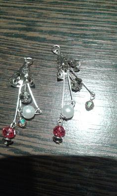 Aros cristal y perlas. Francamente mdq.