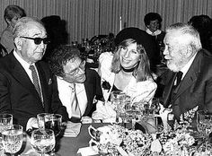 Akira Kurosawa, Sydney Pollack, Barbara Streisand and John Huston at the 38th annual director's guild of America, 1986, where Kurosawa was being honoured.  There is so much kickass coolness in this picture.  #johnhuston #barbarastreisand #akirakurosawa #sydneypollack #hollywood #classichollywood #vintagehollywood #oldhollywood #classicfilm #classiccinema #goldenagehollywood #goldenagefilm #vintagecinema #classiccinema #directorsguild
