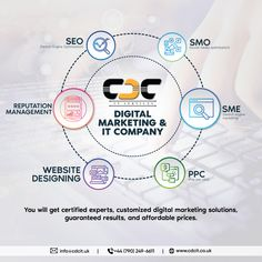 Hire an experienced and best London based digital marketing and IT company. Get a quote now for SEO, SEM, PPC, SMO, Website designing and online brand reputation management. At CDC IT SERVICES, you will get certified experts, customized digital marketing solutions, guaranteed results, and affordable prices. It Company Website, Seo Sem, Reputation Management, Search Engine Optimization, Digital Marketing, Engineering, Social Media, London, Quotes
