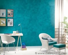 teal stucco effect - Google Search