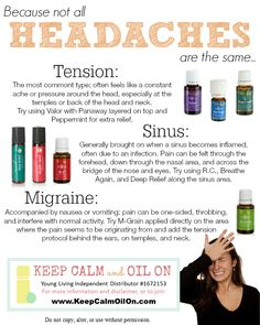 Because not all headaches are the same- tips for using essential oils to relieve headache pain