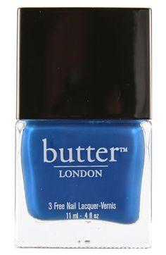 "butter LONDON - ""Blagger"".  A GORGEOUS cobalt blue!  My next mani/pedi!"