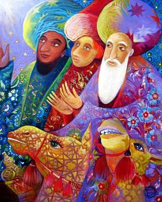 Three Wise Men Canvas Print / Canvas Art by Paul St George Re Magi