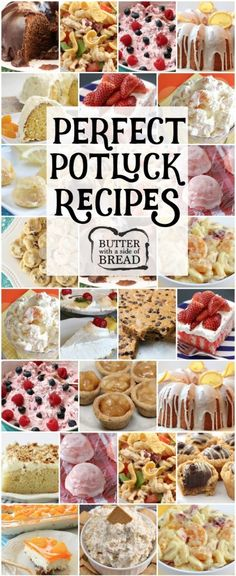 Our favorite POTLUCK RECIPES all in one place! Includes our popular recipes for Fiesta Ranch Chicken Pasta Salad, Lemon Cake Drops, Chocolate Chip Banana Bars, Orange Cream Fruit Salad and more. Perfect recipes for planning your next potluck dinner. Potluck Desserts, Best Potluck Dishes, Church Potluck Recipes, Easy Potluck Recipes, Potluck Dinner, Dinner Party Recipes, Party Desserts, Cooking Recipes, Lunch Recipes