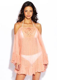 RAVIYA Crochet-Front Cold-Shoulder Cover-Up 20