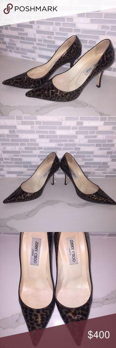 Jimmy Choo Locket Patent Leather Leopard Print Jimmy Choo Shoes Heels