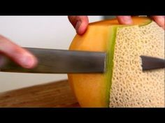 Fruit Cutting by Byron Talbott Fruit And Veg, Fruits And Vegetables, How To Cut Melon, Cantaloupe How To Cut, Byron Talbott, Fruit Presentation, Fruit Tables, Fruit Carvings, Gastronomia