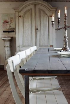 Modern Country...... mmmmm white on white interiors. Lovely lines.