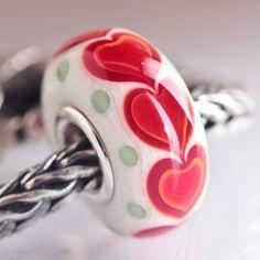 GlassBonBon Endless Love SRA Lampwork Bead fits all kinds of european charm bracelets BHB fully cored via Etsy