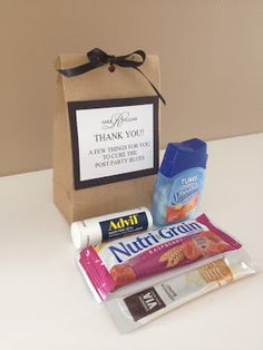 Lucky Penny Events Hangover Kit for Hotel Welcome Basket