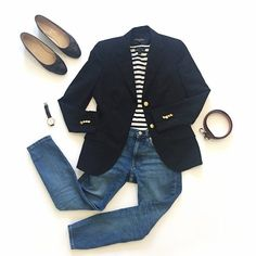 Dress down Fridays - Dress down Fridays - You are in the right place about Blazer Outfit casual Here we offer you the most beautiful pictures about the o Mode Outfits, Fall Outfits, Casual Outfits, Fashion Outfits, Womens Fashion, Fashion 2017, Mode Style, Style Me, Mode Monochrome